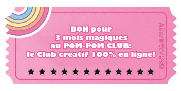 abonnement 3 mois PomPom club